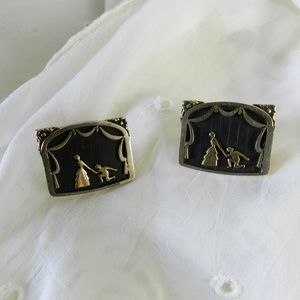 Vintage Kreisler Craft USA Black & Gold Cufflinks
